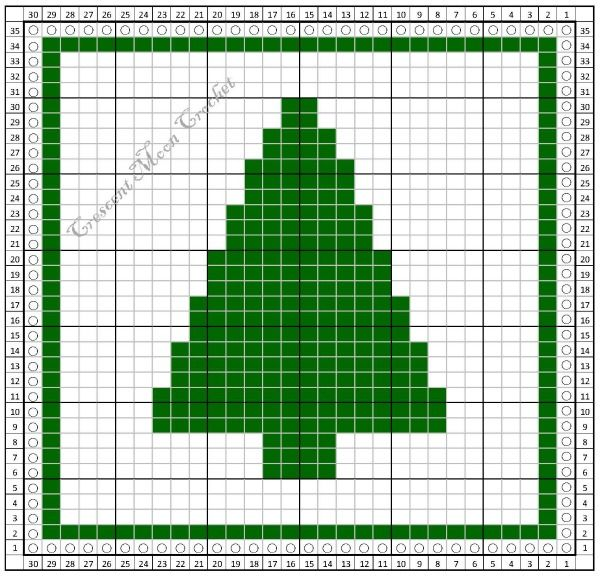 Tunisian Crochet Monthly Dishcloth Crochet Along Christmas Tree Dishcloth Petals Christmas Tree Knitting Pattern Crochet Christmas Trees Tunisian Crochet