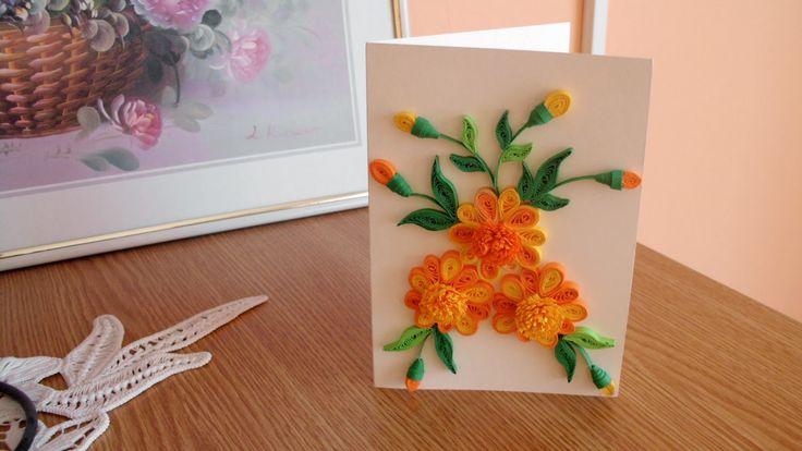 cadouri handmade - quilling art: felicitari aniversare