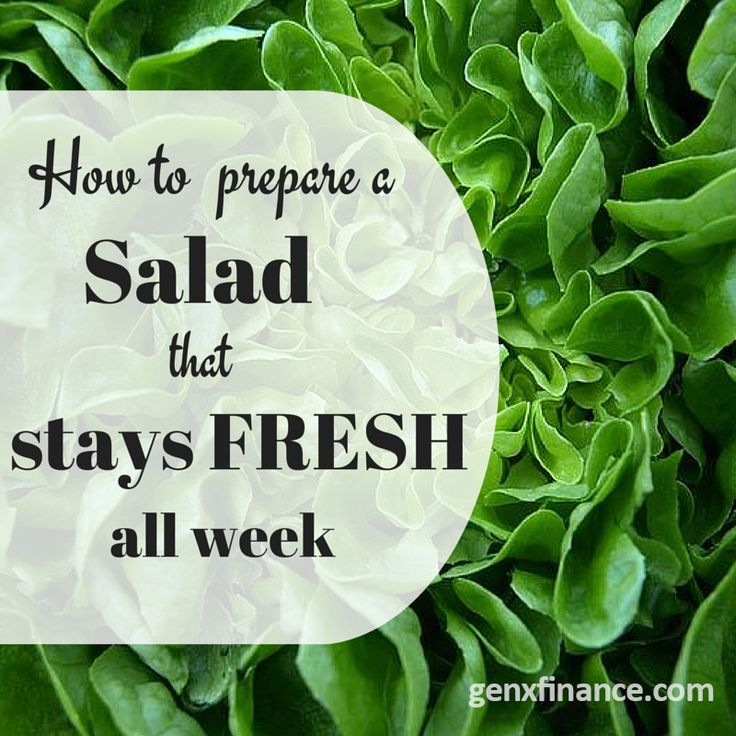 Clever tricks for keeping salad fresh!