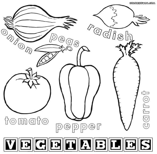 Coloring Fruit And Vegetables Collection