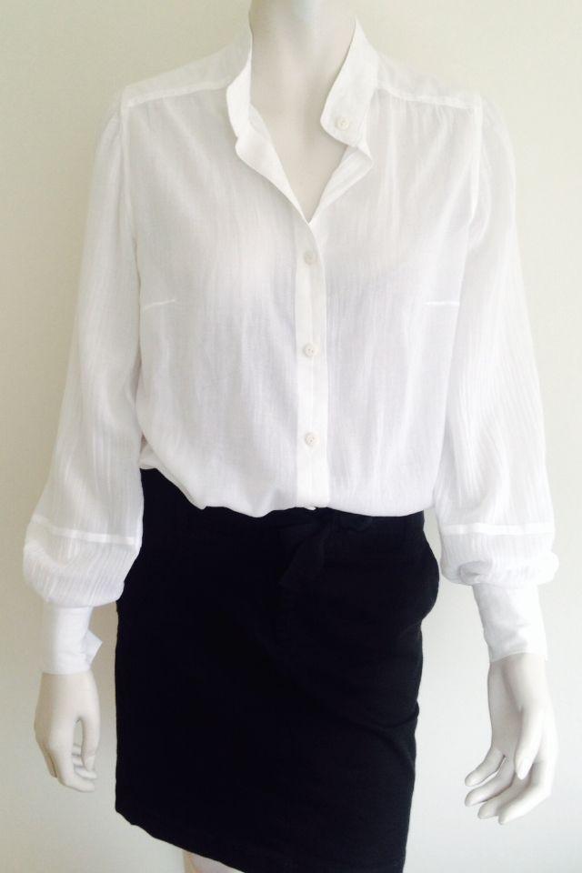 Sheer white summer blouse