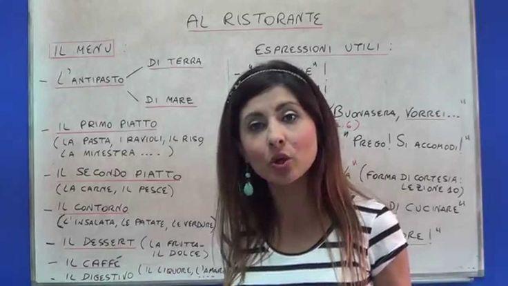 Italiano al Ristorante - One World Italiano - Lezione 15