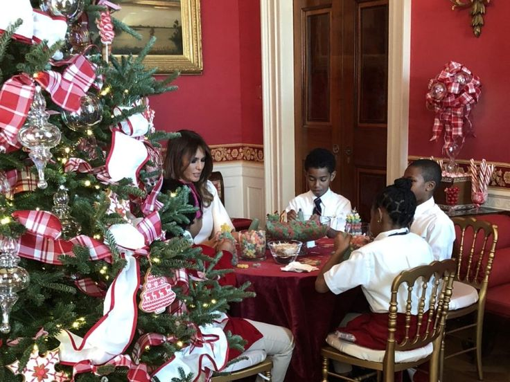 Christmas Alive at White House as Melania Trump Welcomes Children