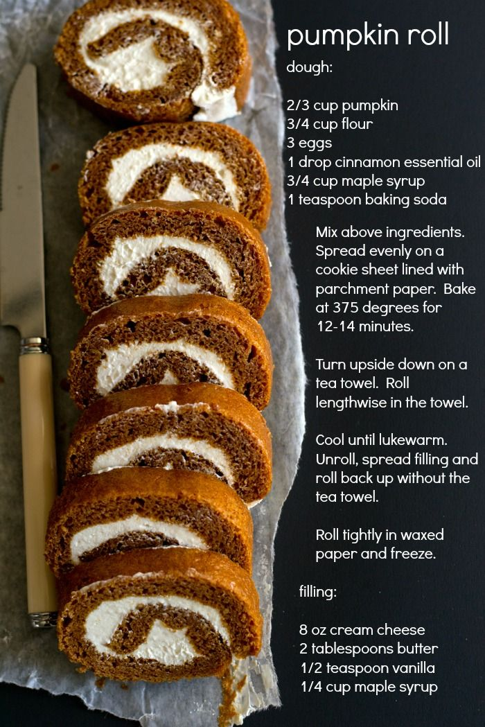 pumpkin roll: tried this recipe tonight too