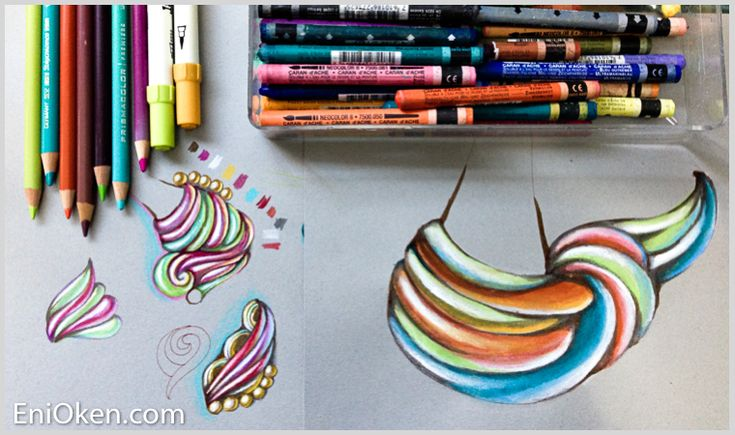 Learn how to color with colored pencils • enioken.com