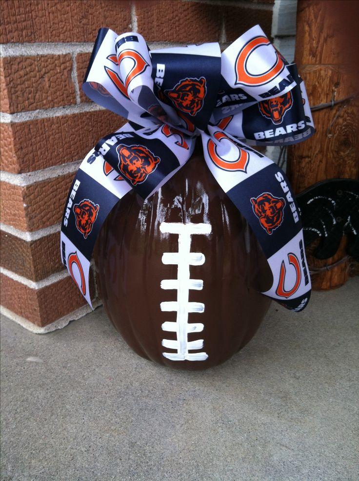 Chicago Bears Football Pumpkin ;) only I would pick a better football team!