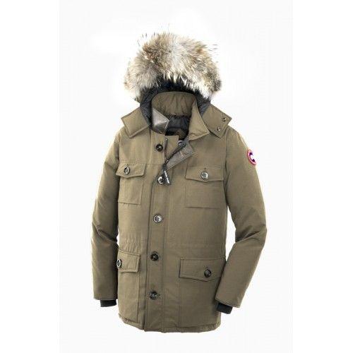 Canada Goose Herre Banff Parka Fur Hoody Beige