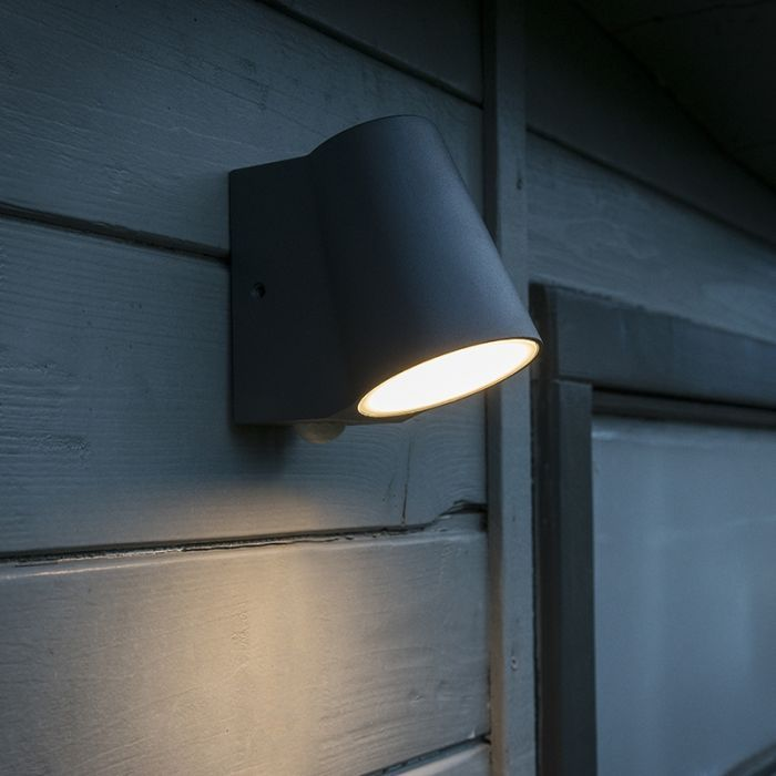 Outdoor Lamp Anthracite With Motion Sensor Incl Led Uma Outdoor Wall Lamps Outdoor Lamp Motion Sensor Lights Outdoor
