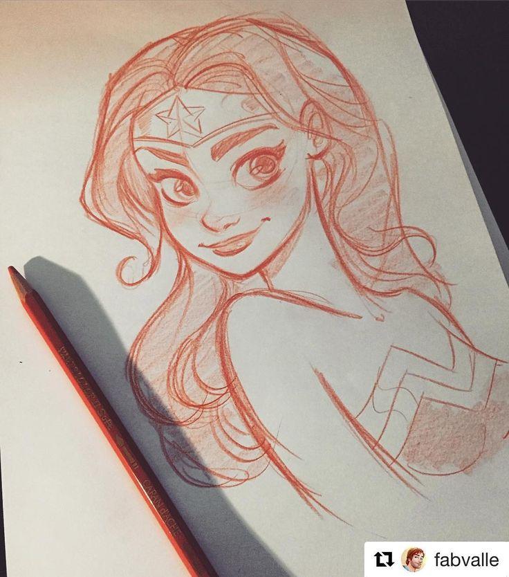 #wooolikes @fabvalle  Cute Wonder Woman sketch   #FabioValle #FabValle #DC #WonderWoman #Drawing #Sketch #Smile #Pencil #Comics #Animation #dccomics #sketchbook #characterdesign #diseñodepersonajes #wooomic #comic #cómic #superhero #regram #repost #likes #illustrationartists #illustratorsoninstagram