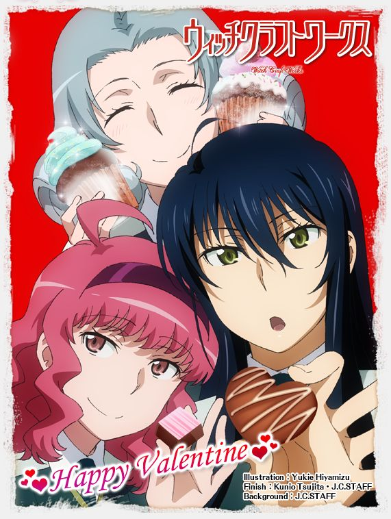 """Crunchyroll - Happy Valentine's Day From The Girls of """"Witch Craft Works"""""""