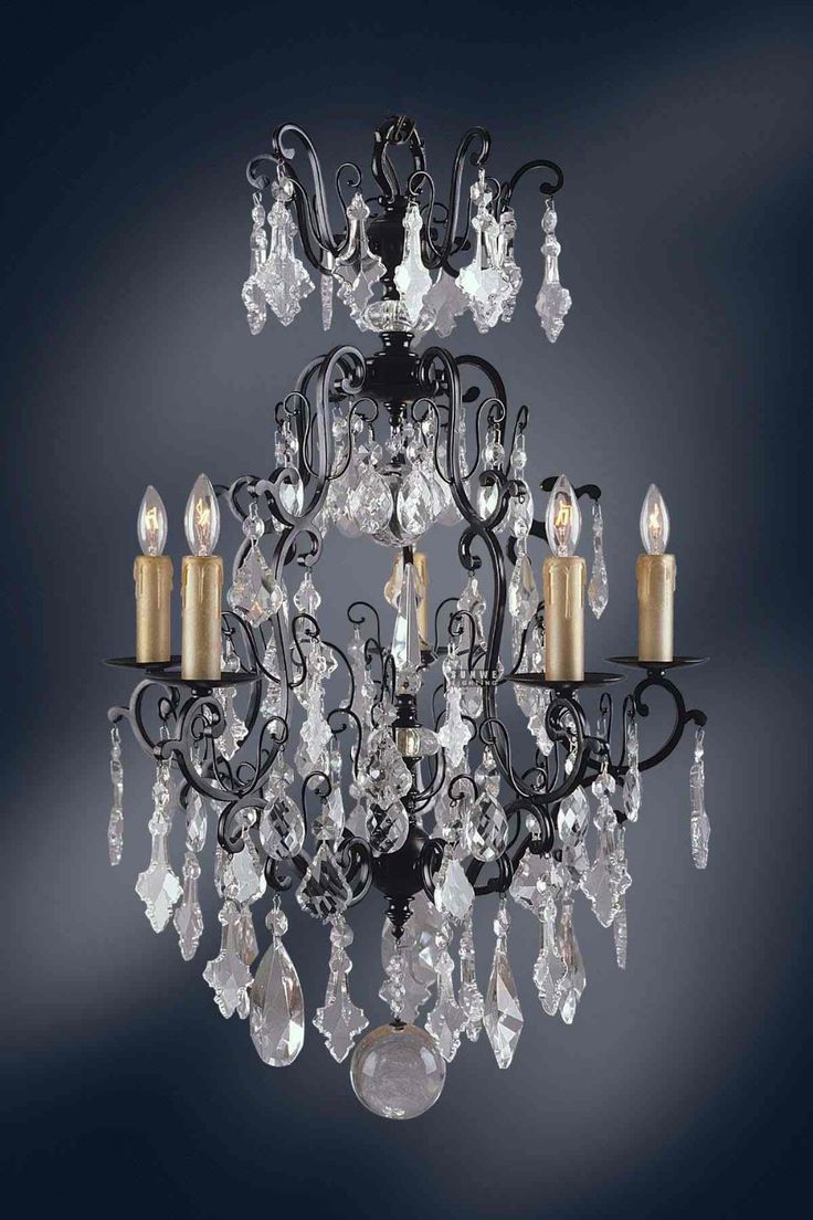 90 best wrought iron chandeliers images on pinterest wrought 5 light versailles crystal chandeliers dressed with crystal pendants wrought iron chandeliers arubaitofo Images