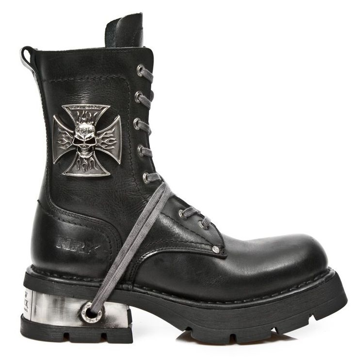 New Rock Shoes - Neo Biker 1623 :: VampireFreaks Store :: Gothic Clothing, Cyber-goth, punk, metal, alternative, rave, freak fashions