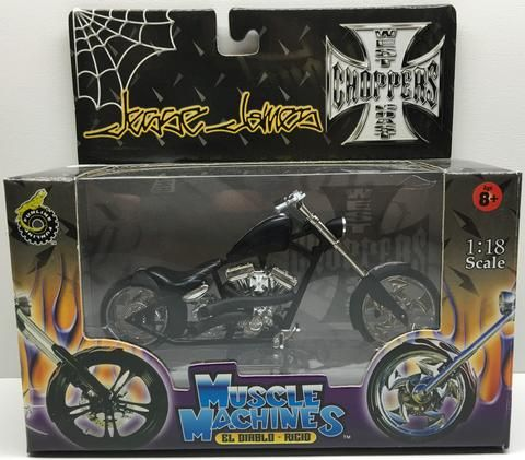 (TAS032837) - 2003 Muscle Machines 1:18 Die-Cast West Coast Choppers Jesse James, , Trucks & Cars, Muscle Machines, The Angry Spider Vintage Toys & Collectibles Store  - 1