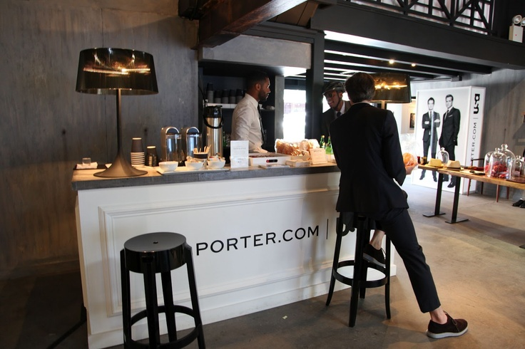 @Porter Vanities reception desk