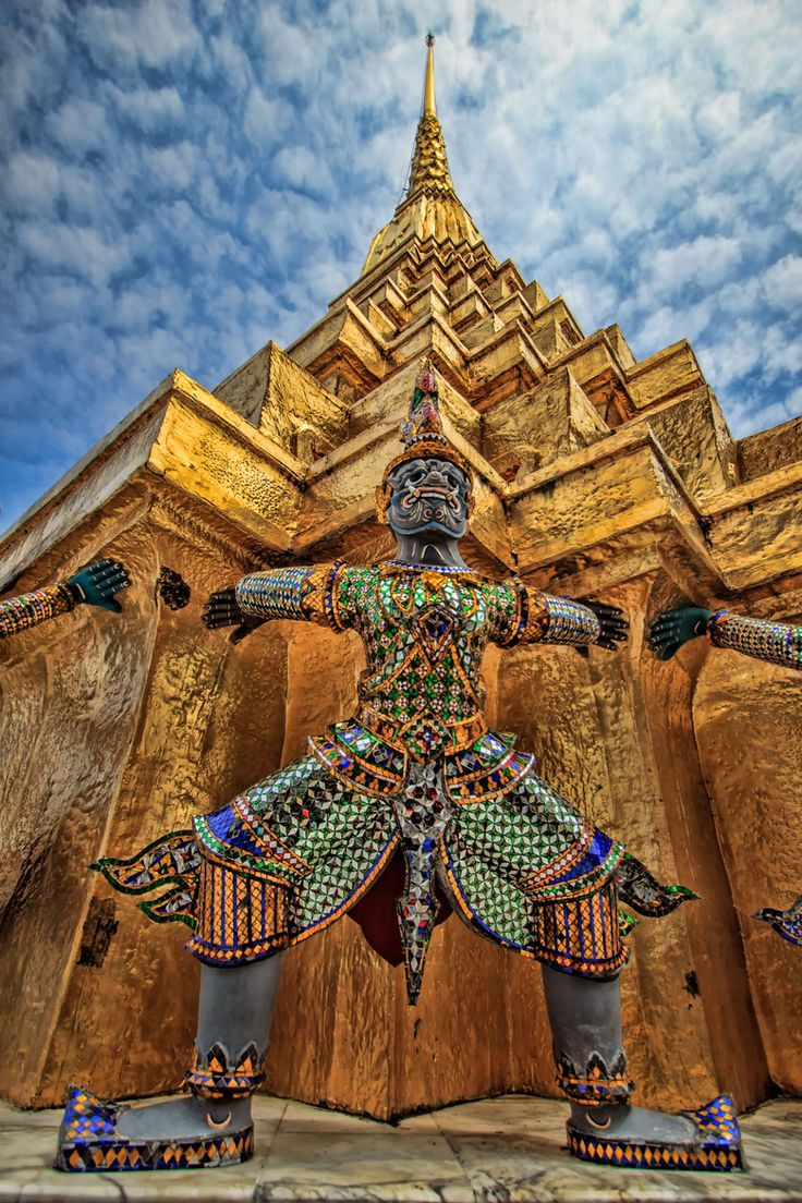 Grand Palace, Bangkok, Thailand. 500 baht per person to see the intricate design. Lots of tourists, but intentional and sneaky walking can keep things calm (for the most part). Must wear modest clothing to enter but you can purchase skirts/pants/wraps for 100 baht