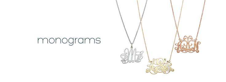Monograms by me∙mi. Choose between 1, 2, or 3 initials. Pendent with chain or Necklace. Available in silver, 9kt yellow gold or 9kt rose gold.