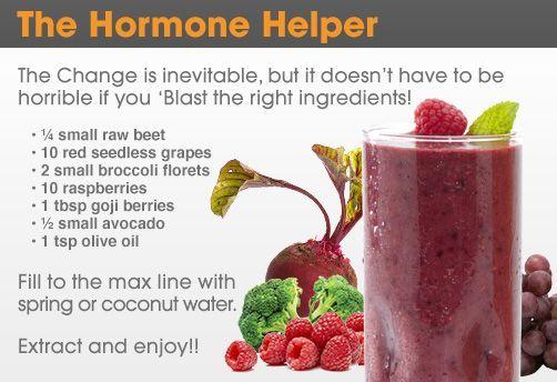 David Wolfe Recipes The Hormone Helper beet, grapes, broccoli, raspberries, goji berries, avocado, olive oil.
