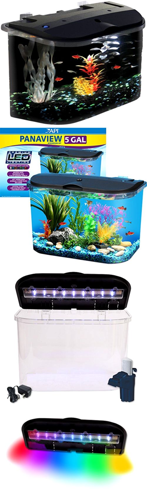 Fish aquarium online delhi - Animals Fish And Aquariums 5 Gallon Big Fish Aquarium Kit Led Light Filter Starter Water