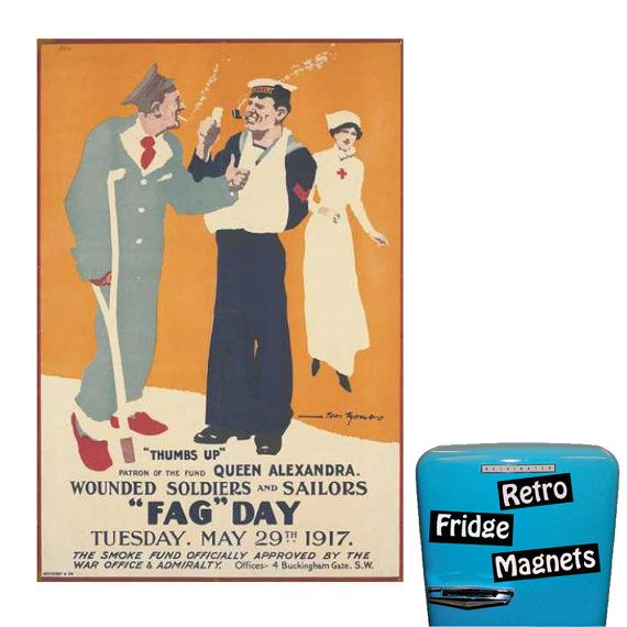 Funny Fag Day  Histerical Dated Fridge by RetroFridgeMagnets, $2.00