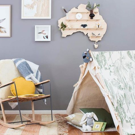 What a dreamy Aussie nursery!  Thanks for the great shot @mintymagazine featuring many of our nursery favouritesfrom Koskela. Such as our @onetwotree_ treasure board & wooden Kangaroo @formebydee Kangaroo print Native Swinsoncanvas tent & Pashom felt koala mask. k o s k e l a 1/85 Dunning Ave Rosebery 02 9280 0999 | info@koskela.com.au store.koskela.com.au #Koskela #koskelaJuniors