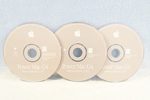 Power Mac G4 Software Restore 3 Disc Set: Genuine Macintosh Mac-Apple Operating System Computer Software Program Replacement Discs PC