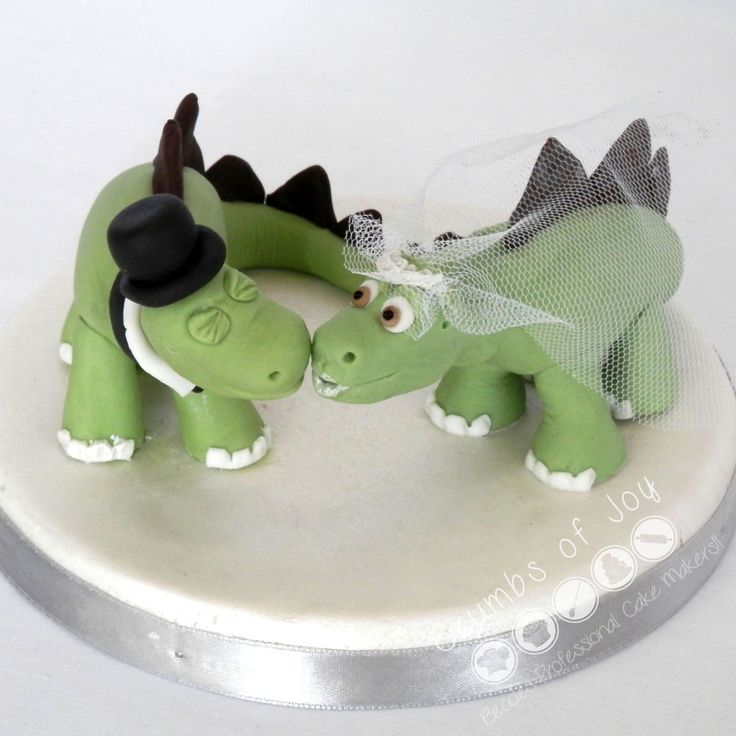 Personalised #Wedding #CakeTopper #Dinosaurs #Bride #Groom #Beccles