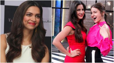 @InstaMag - Actress Deepika Padukone says she is professionally and personally very fond of Katrina Kaif and Anushka Sharma.