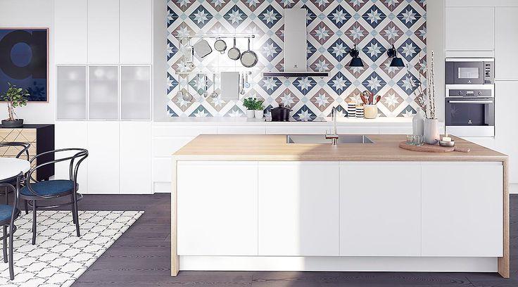 Elkjøp Epoq Integra Hvit. Kjøkken. Kitchen island. Kjøkkenøy