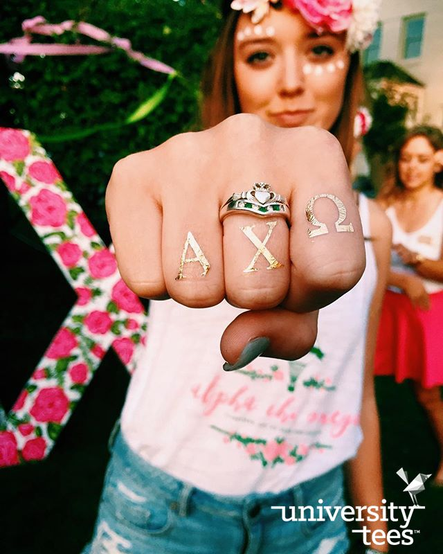 Go ahead. Bump your screen. | Alpha Chi Omega | Made by University Tees | www.universitytees.com