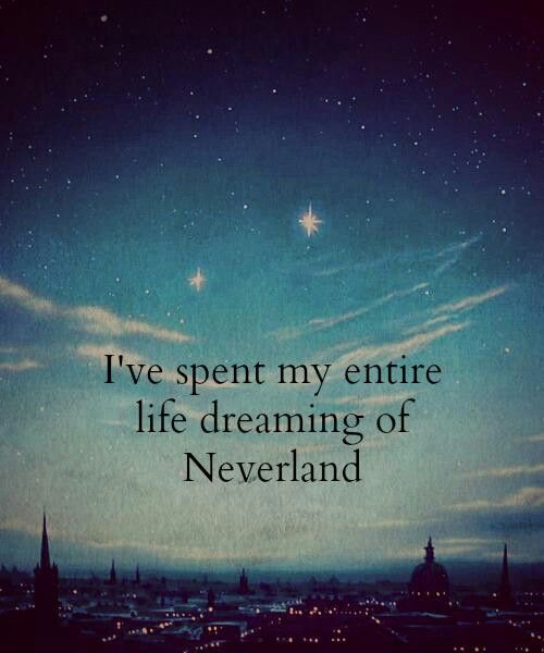 Literally the best dream I ever had was one where I got to stay in Neverland. I woke up crying out of happiness (and sadness, because the dream was a little bittersweet). <<< awwww! (previous pinner)