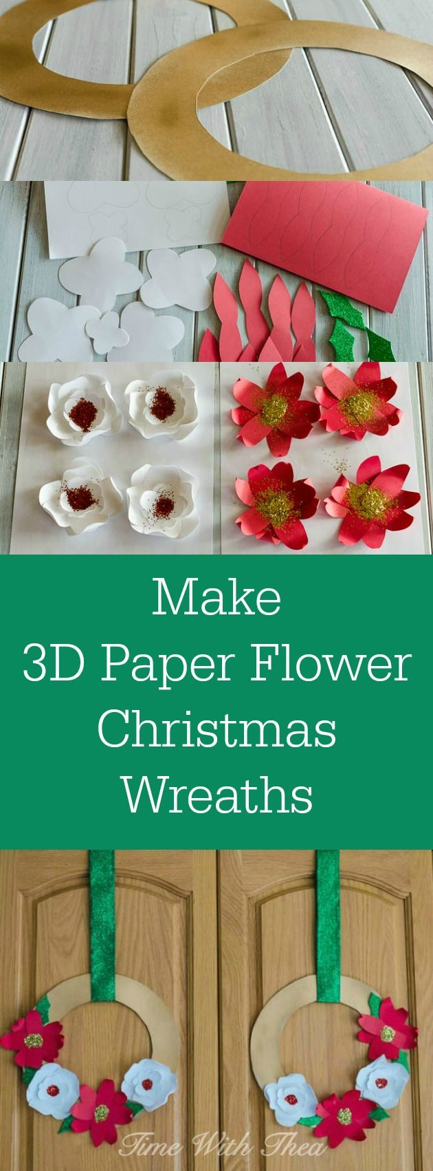 158 best christmas images on pinterest for Christmas paper crafts for adults