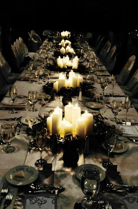Seek inspiration from this spooky and beautiful table setting for your own Halloween gathering.