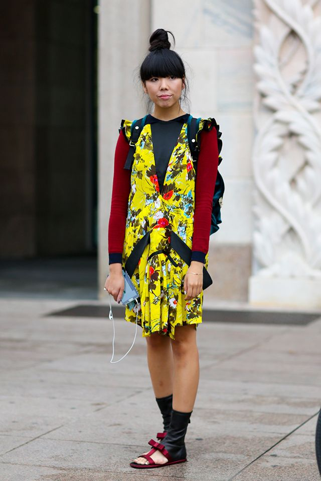 Susie splashing some colour about in Milan. #SusieLau #StyleBubble