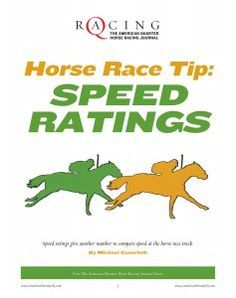 How fast is fast? How do you compare different horses at different tracks running different distances? Find out the newest technology in determining the most-accurate speed ratings in this FREE report from The American Quarter Horse Racing Journal's library, Horse Race Tip: Speed Ratings.