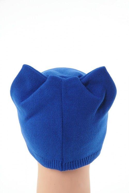 Шапка В0266 Цвет: синий Цена: 270 руб.  http://optom24.ru/shapka-v0266/  #одежда #женщинам #шапки #оптом24