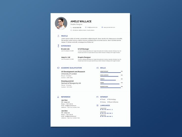Free Blur Resume Template Cover Letter