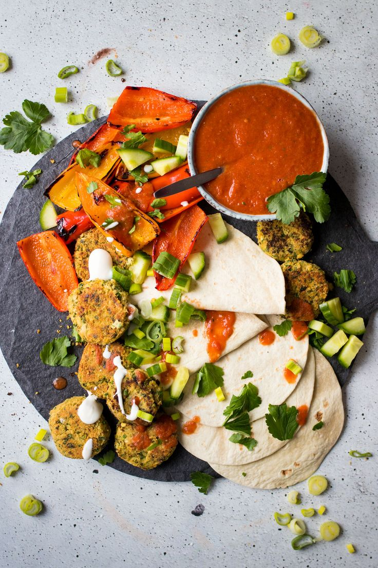 Homemade Vegan Falafel Wraps with the best, most fresh salsa ever!
