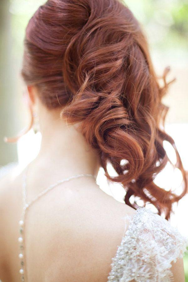 #acconciatura #sposa capelli rossi. Scopri altre acconciature sposa: http://www.matrimonio.it/collezioni/acconciatura/2__cat