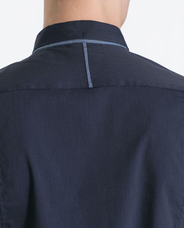 CAMISA ELÁSTICA MIL RAYAS - Camisas - Hombre   ZARA España