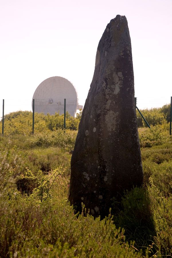 Dry Tree Menhir - Goonhilly. The perfect juxtaposition of ancient and modern...