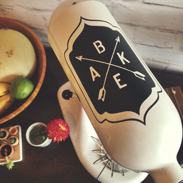 BAKE Frame: Simple and Stylish Crossed Arrow Kitchen Aid Mixer Decals