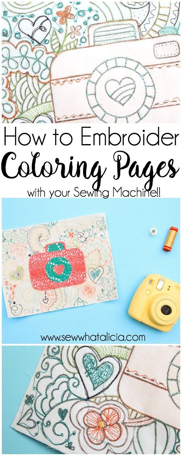 How To Embroider On Coloring Sheets