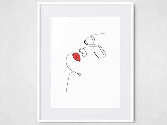 Abstract Art With Lipstick
