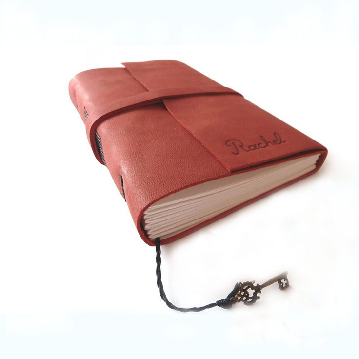 A6 Personalised Leather Journal  Handmade leather notebook