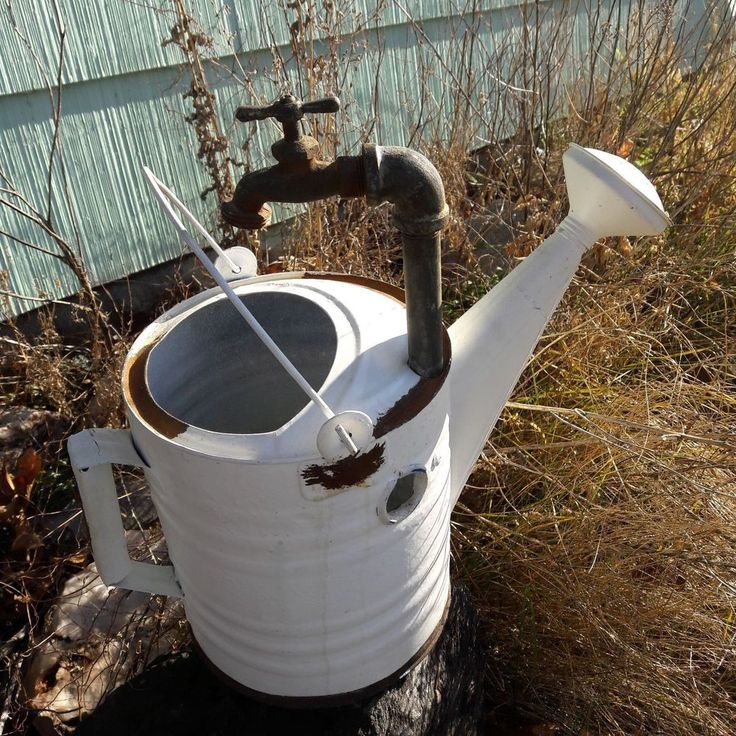 Vintage Metal Watering Sprinkling Can W/ Water Faucet Flower Garden Cabin Decor