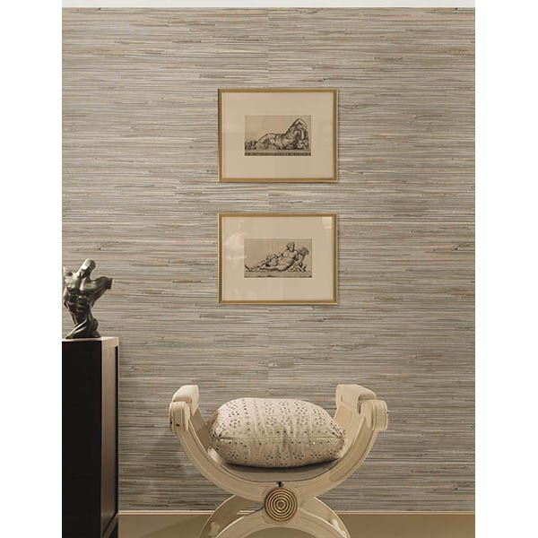 Gray Powder Room With Grey Grasscloth: 2693-30273 Light Grey Grasscloth