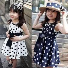 Resultado de imagen para imagenes de vestidos rosados  con puntos blancos de niñas de 8años