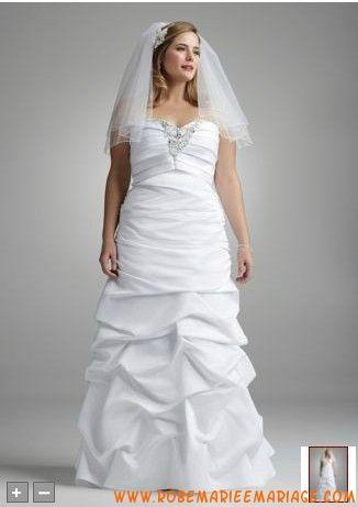 Robe de mariée longue plancher mousseline