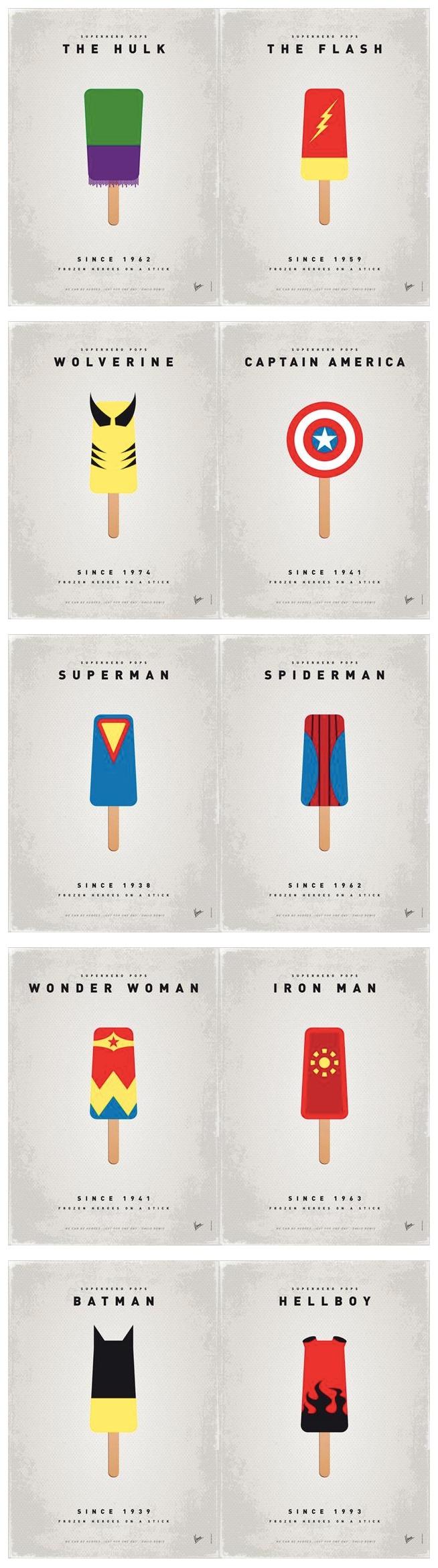 Super Hero Ice Pops