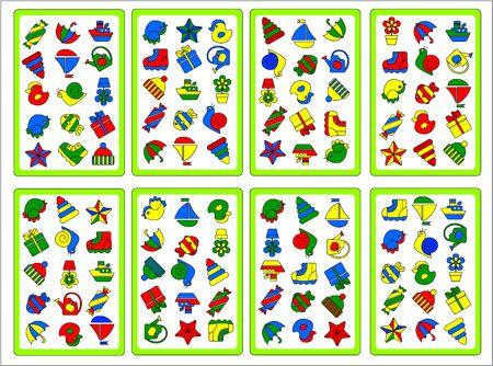 Free printable spel. Bij ieder twee kaarten is er maar één plaatje dat overeenkomt in dezelfde kleur. Ki